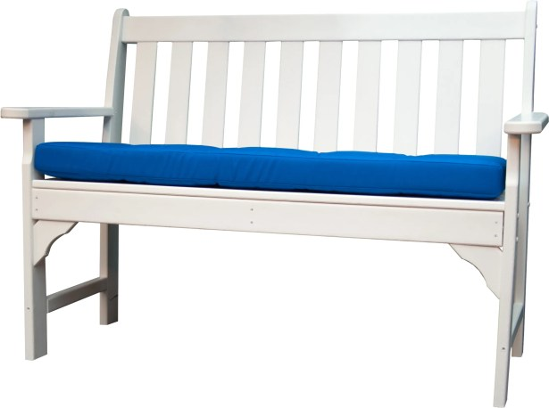Luxe? Indoor/Outdoor Sunbrella Bench Cushion Fabric: Pacific Blue, Size: 43