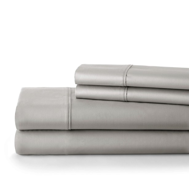 500 Thread Count Cotton Sateen Sheet Set Size: California King, Color: Steel Gray