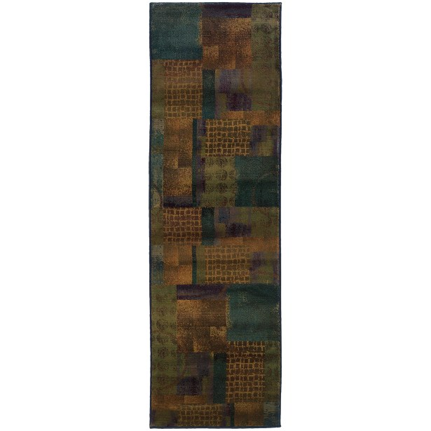 Hinson Blue/Green Area Rug Rug Size: Rectangle 2'3