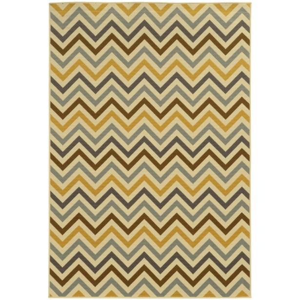 Heath Gray/Gold Indoor/Outdoor Area Rug Rug Size: Rectangle 6'7