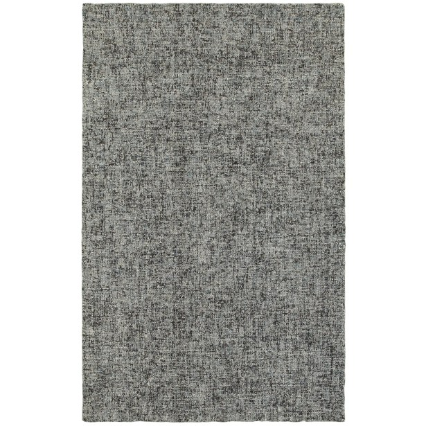 Laguerre Boucle Hand-Hooked Wool Blue/Gray Area Rug Rug Size: Rectangle 8' x 10'