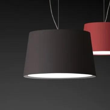 Warm Medium Pendant with Fluorescent Shade Color: Dark Chocolate