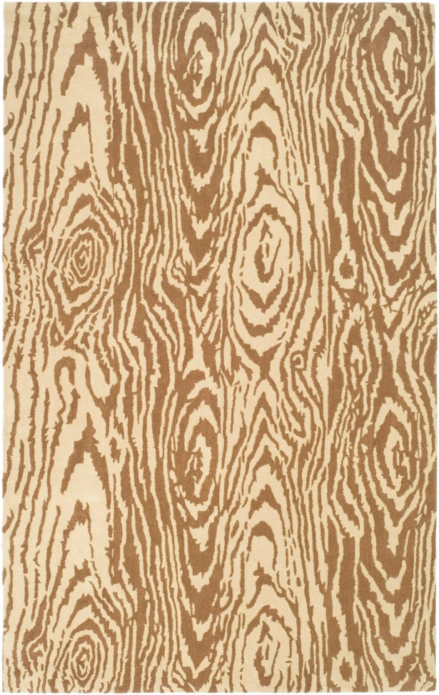 Coffee/Sand Area Rug Rug Size: Rectangle 4' x 5'7