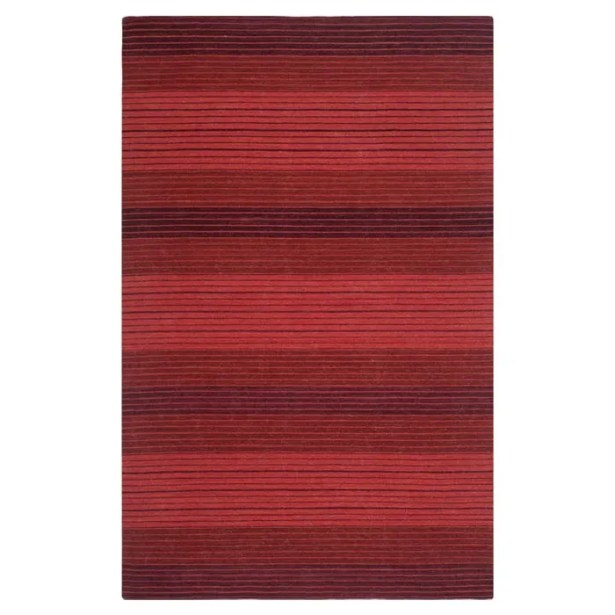 Jami Striped Contemporary Red Area Rug Rug Size: Rectangle 4' x 6'