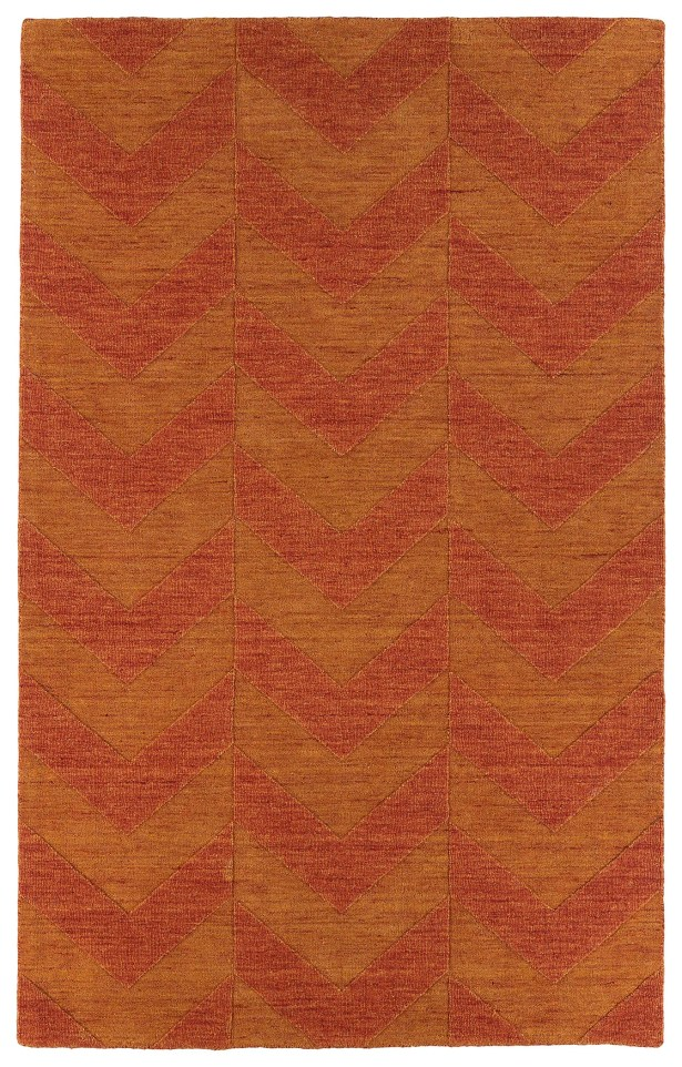 Dobson Paprika Geometric Area Rug Rug Size: Rectangle 5' x 8'