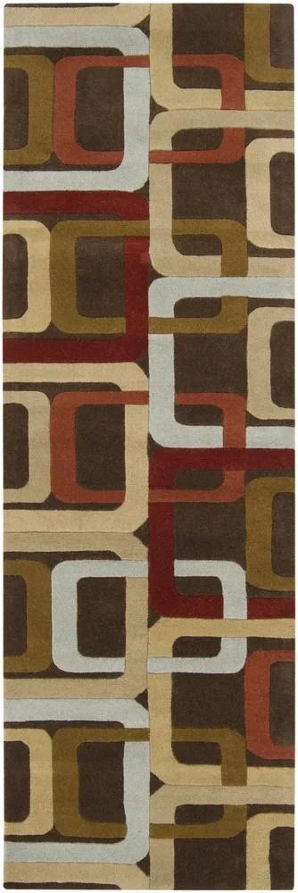 Dewald Brown Area Rug Rug Size: Round 4'