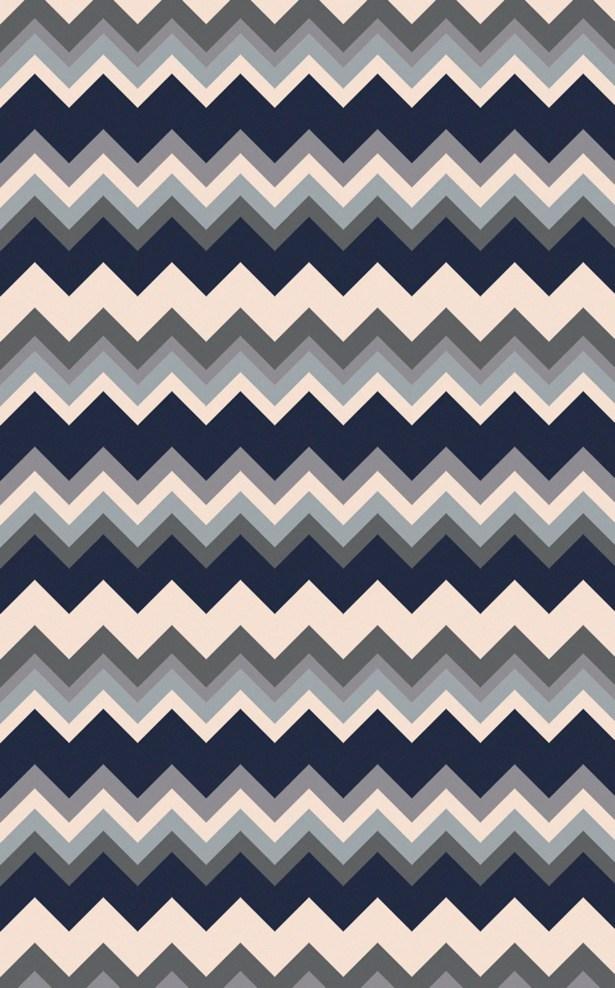 Diego Gray/Navy Chevron Area Rug Rug Size: Rectangle 8' x 11'