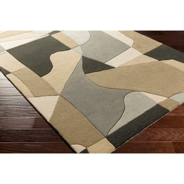 Dewald Hand-Tufted Gray Area Rug Rug Size: Rectangle 8' x 11'