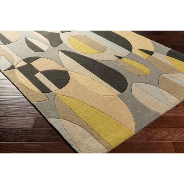 Dewald Hand-Tufted Black/Brown Area Rug Rug Size: Novelty 8' x 10'