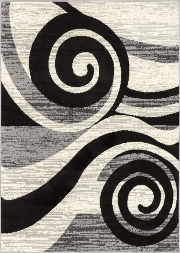 Larabee Gray/Black Area Rug Rug Size: Rectangle 8'2