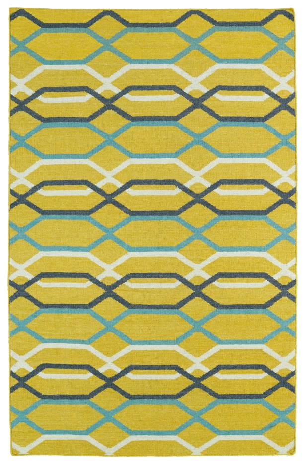 Dolton Yellow Geometric Area Rug Rug Size: Rectangle 5' x 8'