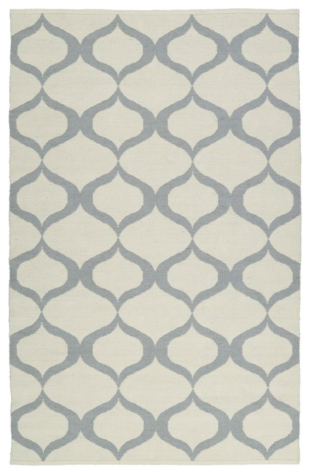 Dominic Hand-Tufted Cream/Gray Indoor/Outdoor Area Rug Rug Size: Rectangle 9' x 12'