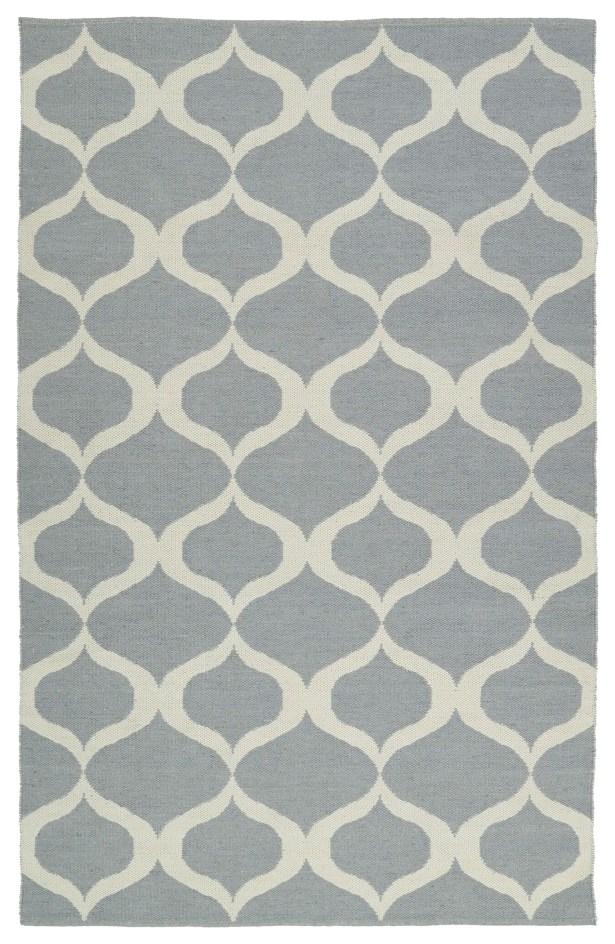 Dominic Gray/Cream Indoor/Outdoor Area Rug Rug Size: Rectangle 8' x 10'
