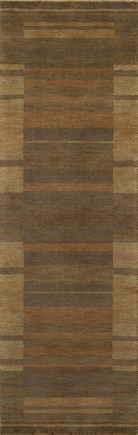 Donaghy Hand-Woven Brown/Yellow Area Rug Rug Size: Rectangle 8' x 11'