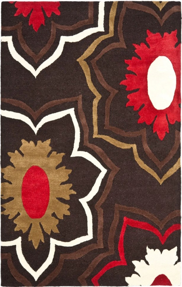 Armstrong Dark Light Brown / Light Dark Multi Contemporary Rug Rug Size: Rectangle 5' x 8'