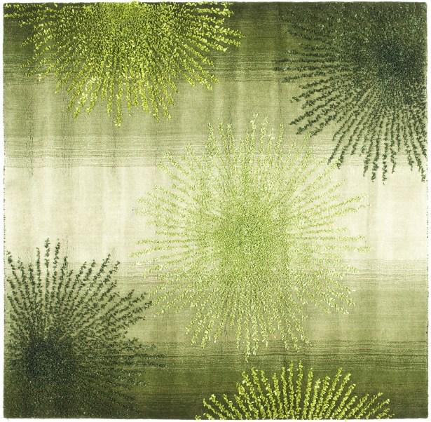 Chidi Green Area Rug Rug Size: Square 6'