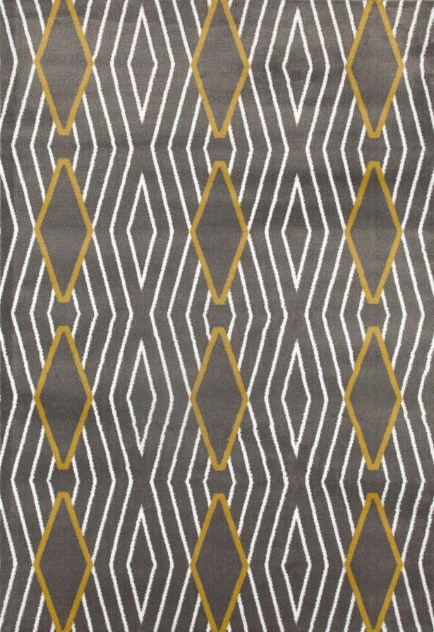 Penny Yellow/Gray Area Rug Rug Size: Rectangle 5'3