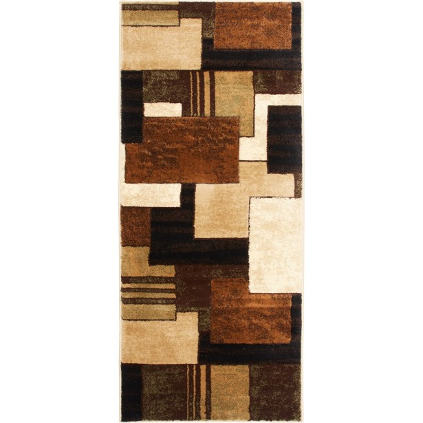 Nolan Brown/Green Area Rug Rug Size: Runner 2'2