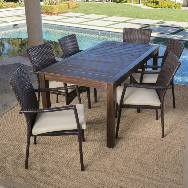 Avebury Outdoor 7 Piece Dining Set with Cushions