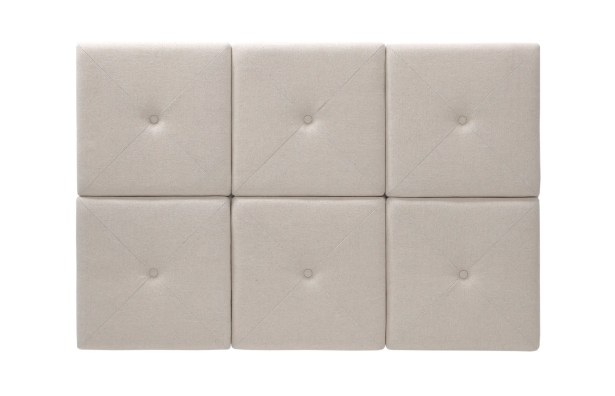 Chestercot Tiles Upholstered Panel Headboard Size: King, Upholstery: Taupe