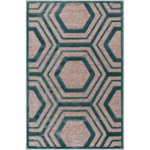 Springdale Green/Brown Area Rug Rug Size: Rectangle 4' x 5'7