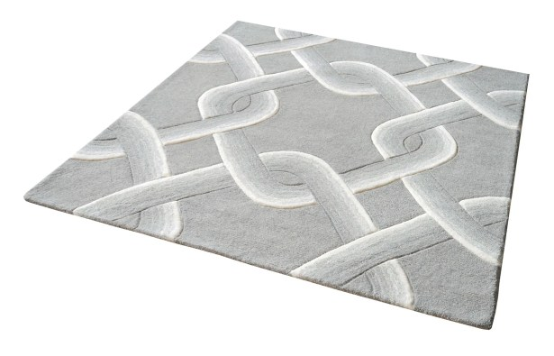 Rowes Hand-Tufted Gray Area Rug Rug Size: Rectangle 5' x 8'