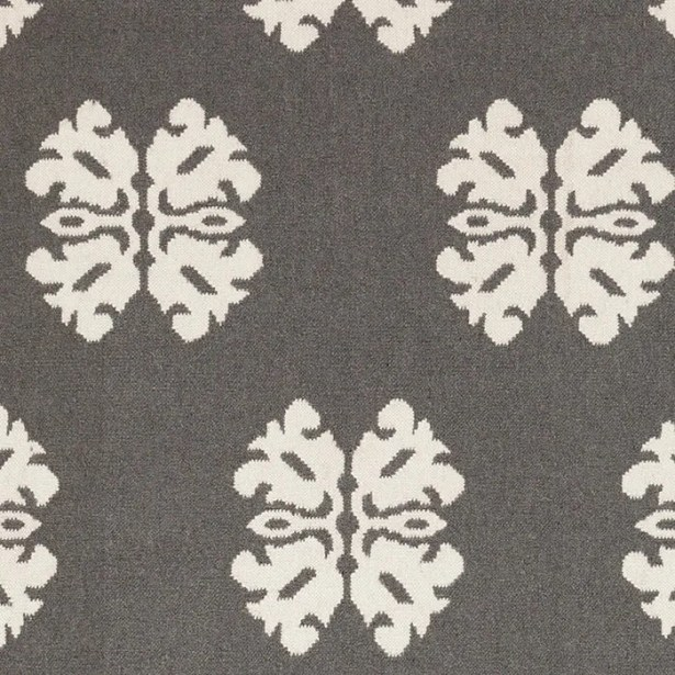 Kramer Pewter/Winter White Floral and Plants Area Rug Rug Size: Rectangle 5' x 8'