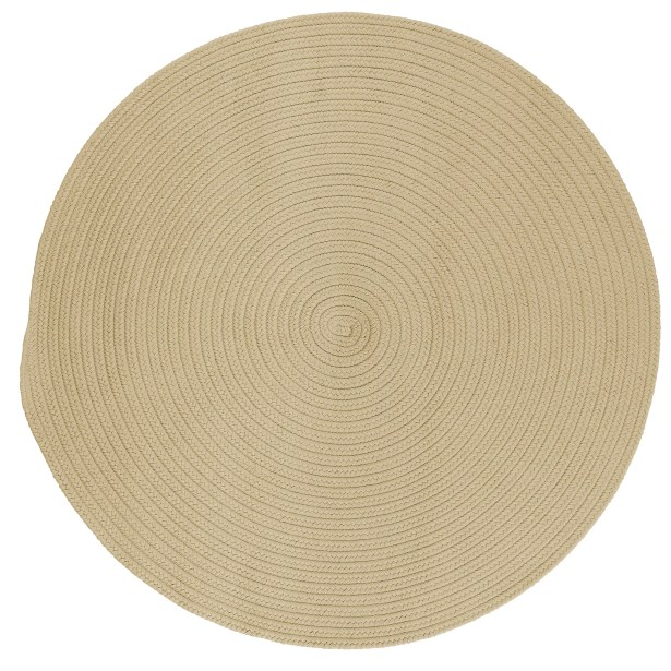 Mcintyre Linen Outdoor Area Rug Rug Size: Round 12'