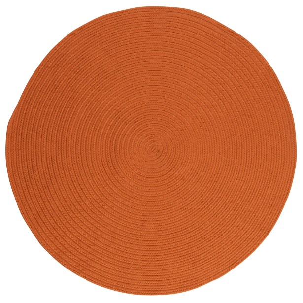 Mcintyre Rust Outdoor Area Rug Rug Size: Round 8'