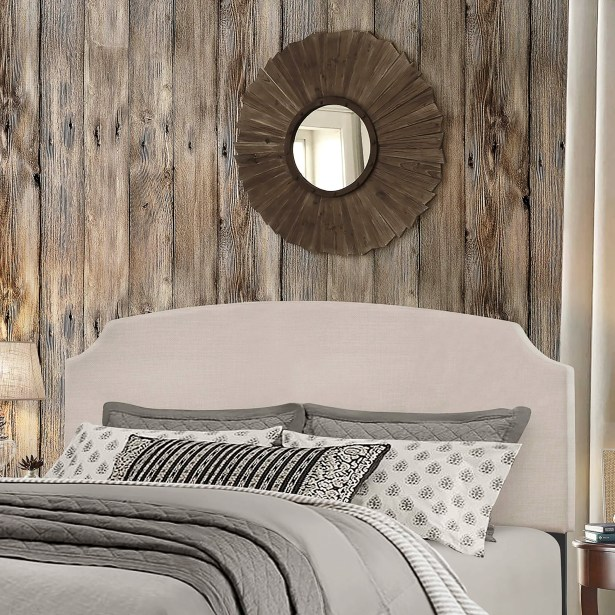 Greensburg Upholstered Panel Headboard Size: Full/Queen, Upholstery: Glacier Gray