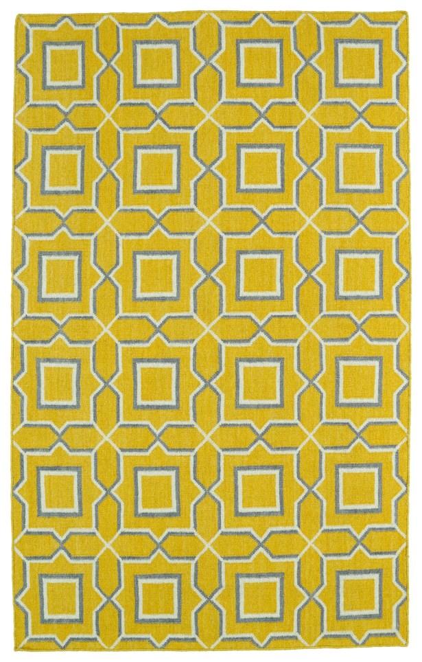 Christien Yellow Geometric Area Rug Rug Size: Rectangle 5' x 8'
