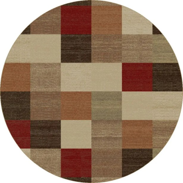 Winters Beige Squares Rug Rug Size: Rectangle 5'3