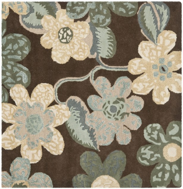 Mccullough Brown Area Rug Rug Size: Square 5'