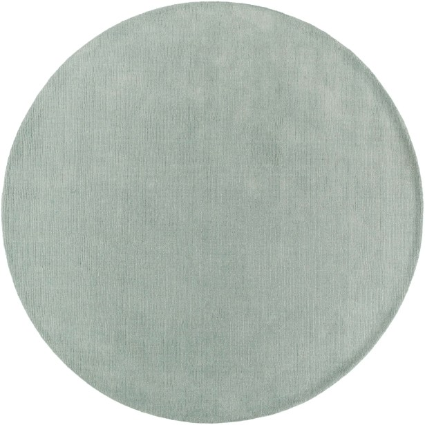 Naples Hand Woven Wool Mint Solid Area Rug Rug Size: Round 9'9