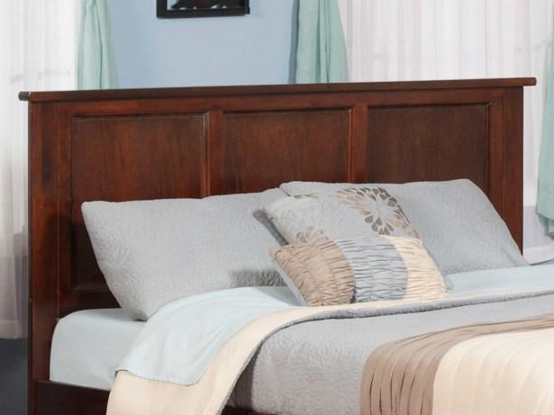 Marjorie Panel Headboard Color: Antique Walnut, Size: Queen