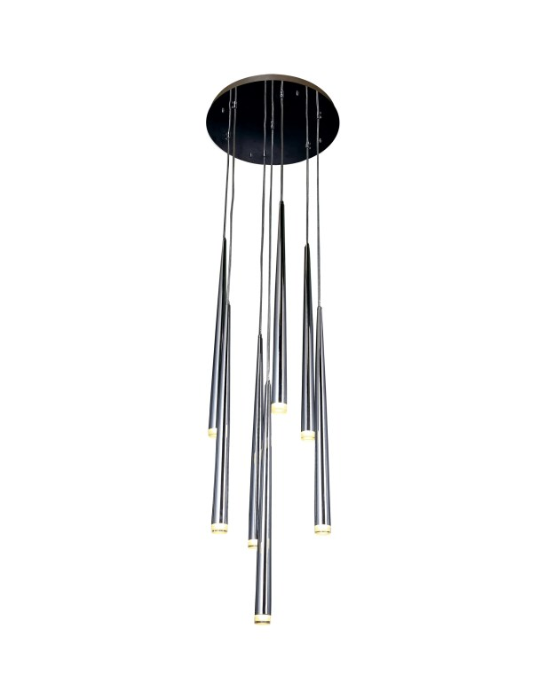 Liesel 7-Light LED Cluster Pendant Color: Chrome