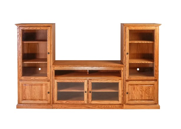 Odom Traditional Entertainment Center Color: Black Alder