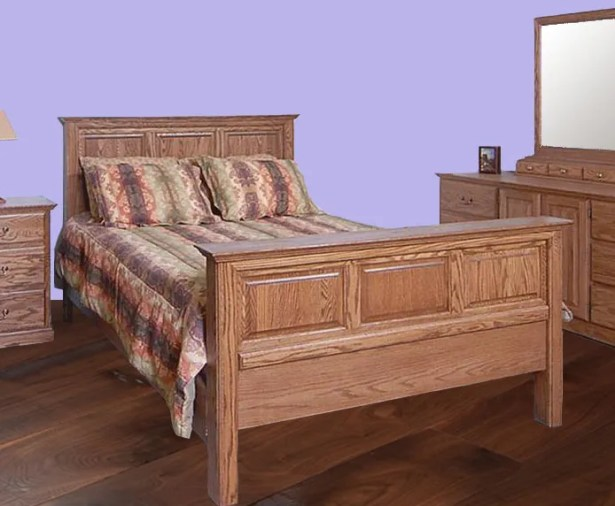 Askins King Panel Bed Color: Spice Alder