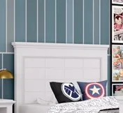 Inwood Raised Panel Headboard Color: Bright White, Size: Full