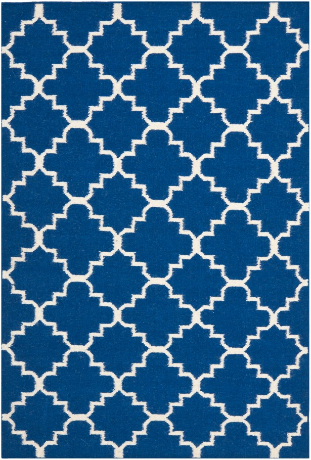 Danbury Dark Blue/Ivory Area Rug Rug Size: Rectangle 3' x 5'