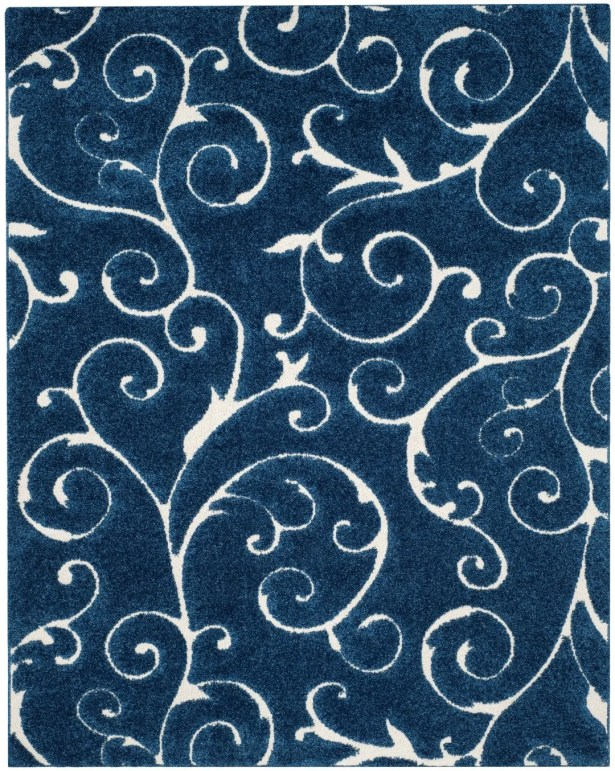 Alison Light Blue/Cream Area Rug Rug Size: Rectangle 5'3