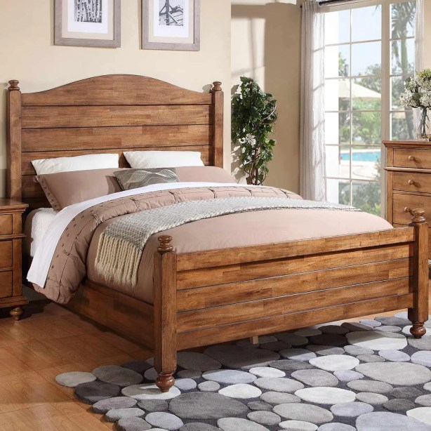 Courtdale Panel Bed Size: California King, Color: Wheat