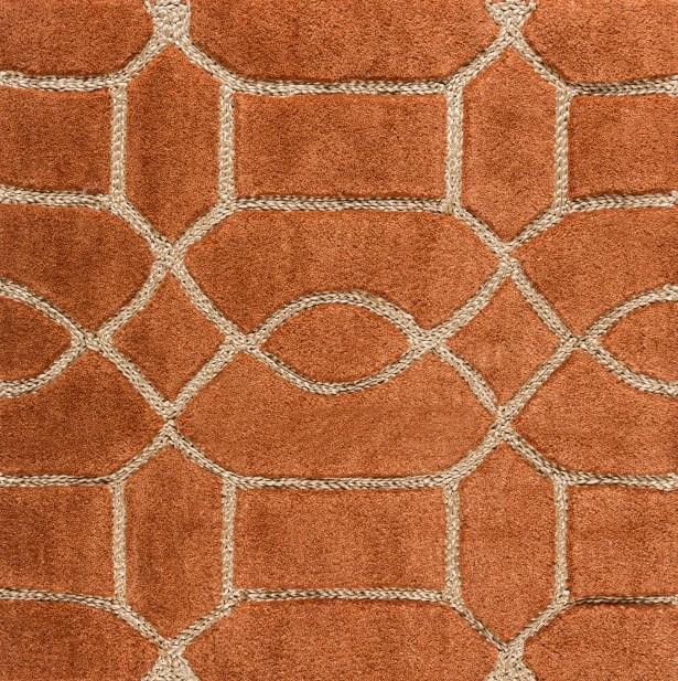 Desroches Hand-Tufted Orange/Beige Area Rug Rug Size: Rectangle 5' x 7'6