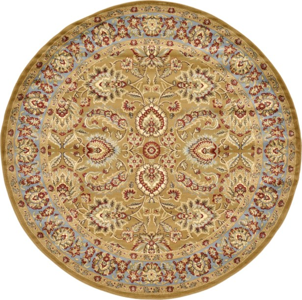 Fairmount Tan Area Rug Rug Size: Round 8'