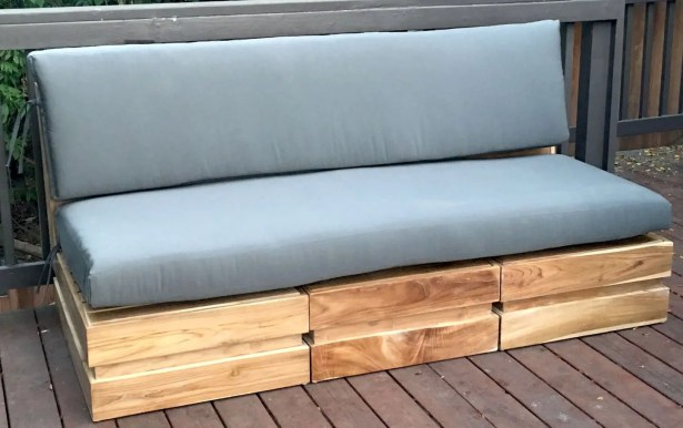 Seaside 5 Piece Teak Sunbrella Sofa Set with Cushions Fabric: Palm