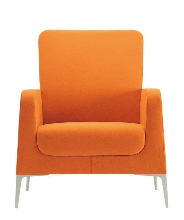 Hi Omega Lounge Chair Upholstery: Momentum Beeline Vinyl Forge, Frame Finish: Powder Coat