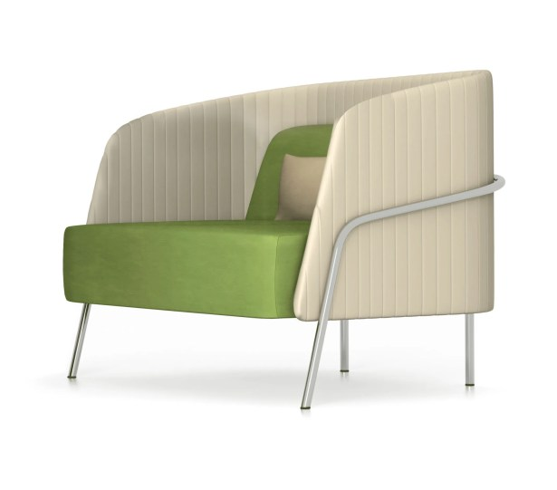 Noldor Low Back Lounge Chair Finish: Metal, Upholstery: Momentum Fuse Fabric Pimento
