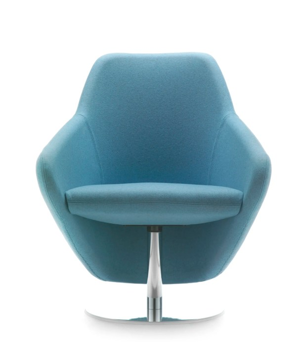 Taxido Swivel Lounge Chair Finish: White, Upholstery: Momentum Fuse Fabric Saffron