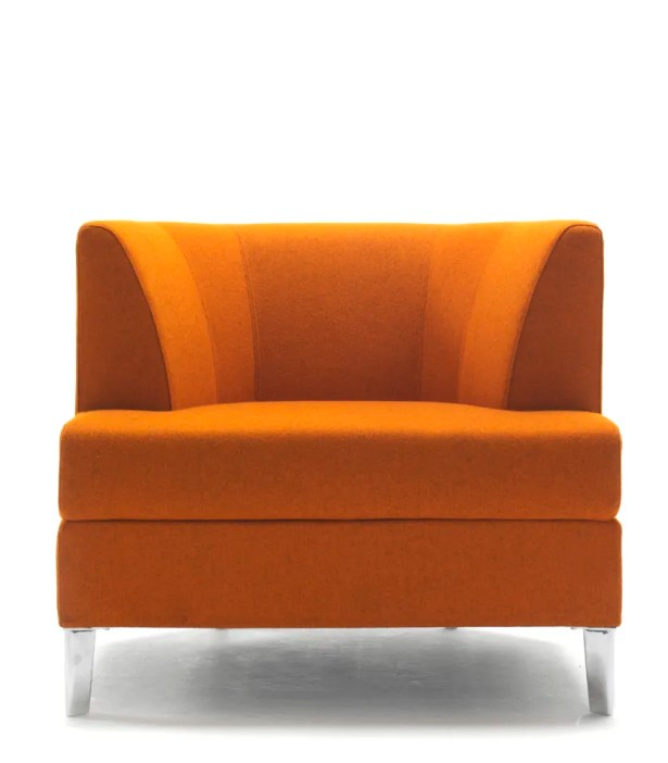 Cosy Lounge Chair with Casters Finish: Powder Coat Aluminum, Upholstery: Momentum Beeline Vinyl Forge