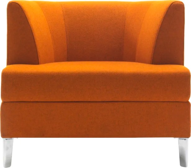 Cosy Lounge Chair Finish: Chrome, Upholstery: Momentum Beeline Vinyl Canvas